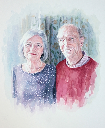 Sir Franklin and Lady Christine Berman Portrait by Simon Taylor