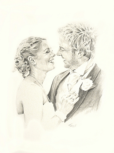 Wedding Portrait by Simon Taylor