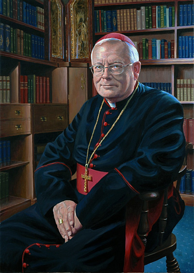 Official Portrait of the Bishop of Northampton by Simon Taylor