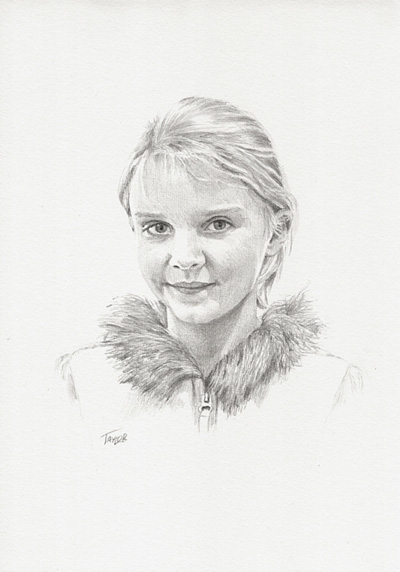 Child Portrait Drawing by Simon Taylor