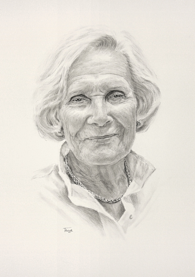 Portrait Drawing by Simon Taylor