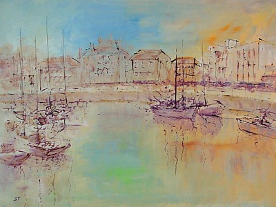 Contemprary Harbour Scene by Simon Taylor