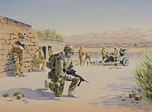 1RHA in Afghanistan Watercolour by Simon Taylor
