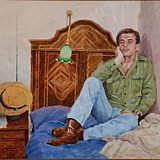 Chris Prior portrait painting by Simon Taylor