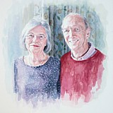 Sir Franklin and Lady Christine Berman, portrait painting by Simon Taylor