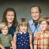 Family Group Portrait painting by Simon Taylor