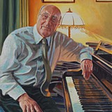 Don Taylor portrait painting by Simon Taylor