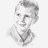 Roope, Pencil drawn Portrait by Simon Taylor